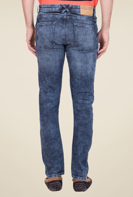 United Colors of Benetton Blue Acid Wash Jeans