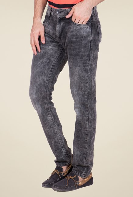 United Colors of Benetton Black Acid Wash Jeans