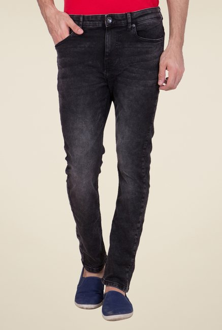 United Colors of Benetton Black Lightly Washed Jeans