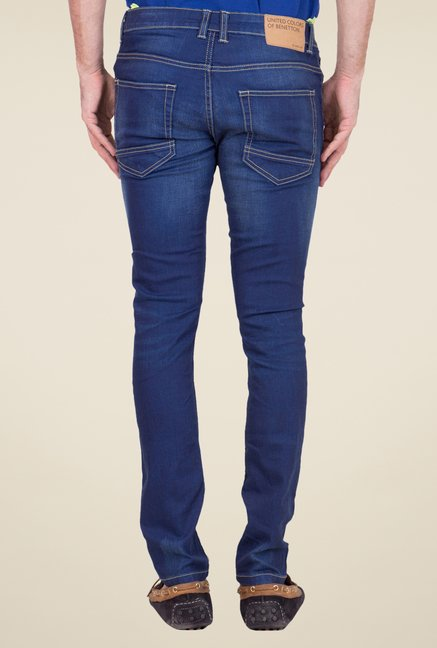 United Colors of Benetton Blue Lightly Washed Jeans