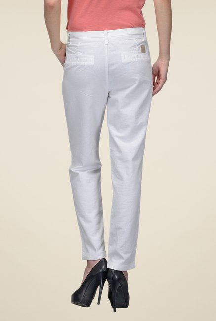 United Colors of Benetton White Trousers