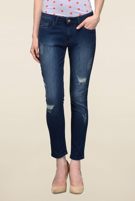 United Colors of Benetton Blue Ripped Jeans