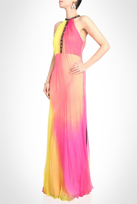 Arpan Vohra Designer Wear Multicolor Maxi Dress by Kimaya