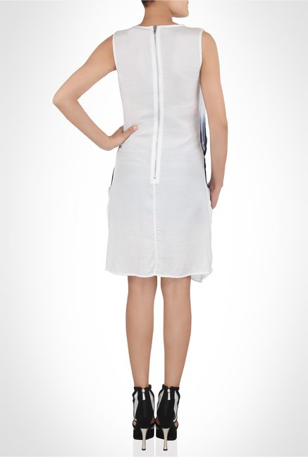 Rinku Dalmal Designer Wear White Ombre Dress by Kimaya
