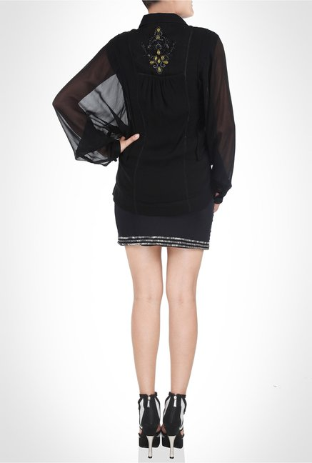 Anita Dongre Designer Wear Black Shirt by Kimaya