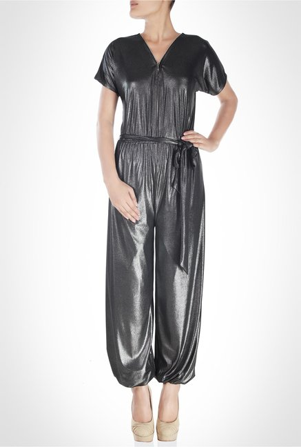 Rubina K Designer Wear Metallic Jumpsuit by Kimaya