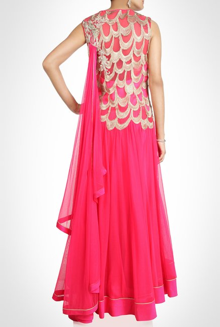 Gaurav Gupta Designer Wear Pink Suit Set by Kimaya
