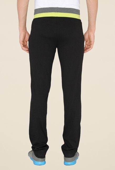 Chromozome Black Casual Trackpants