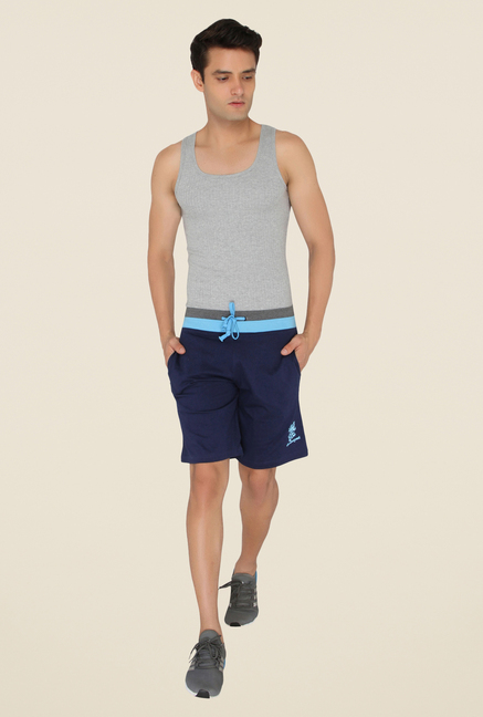 Chromozome Navy Solid Shorts