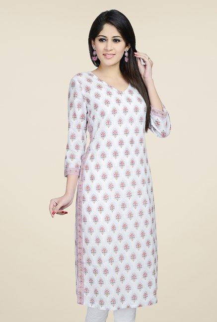 ca73141d81 Buy Fab India White Block Print Kurta Online at best price at TataCLiQ