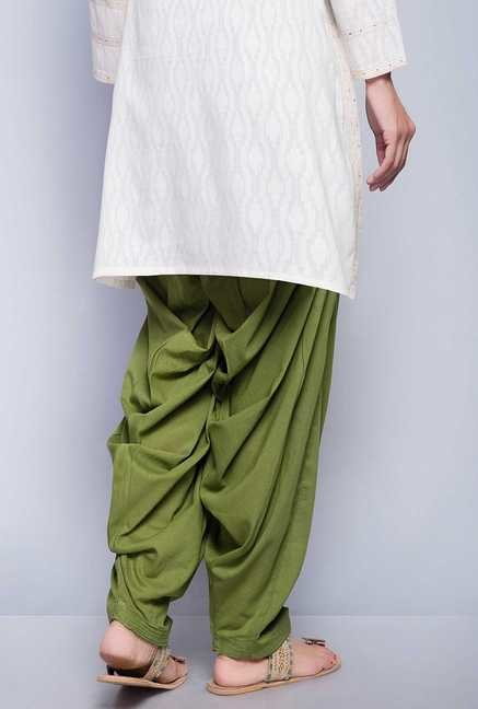 Fabindia Green Solid Patiala