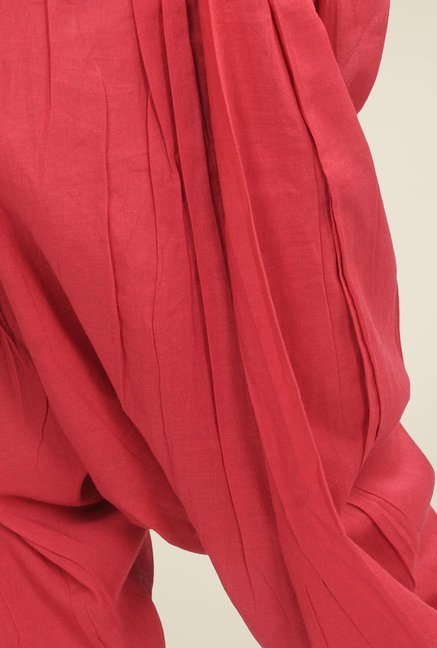 Fabindia Red Solid Patiala
