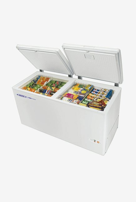 Voltas 405 Ltr Double Door Horizontal Chest Freezers (White)