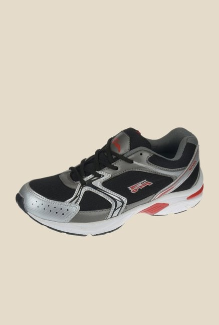 Khadim's Pro Black & Grey Running Shoes