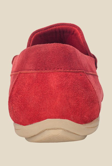 Khadim's Red Casual Loafers