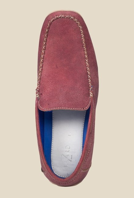 Khadim's Light Red Loafers