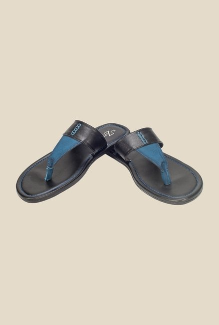 Khadim's Black & Blue Thong Sandals