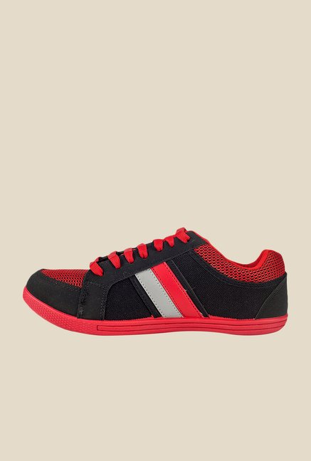 Khadim's Pro Red & Black Running Shoes