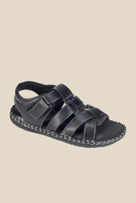 Khadim's Black Fisherman Sandals