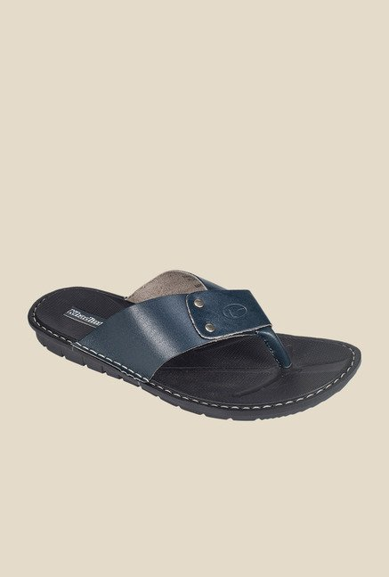Khadim's Navy & Black Thong Sandals