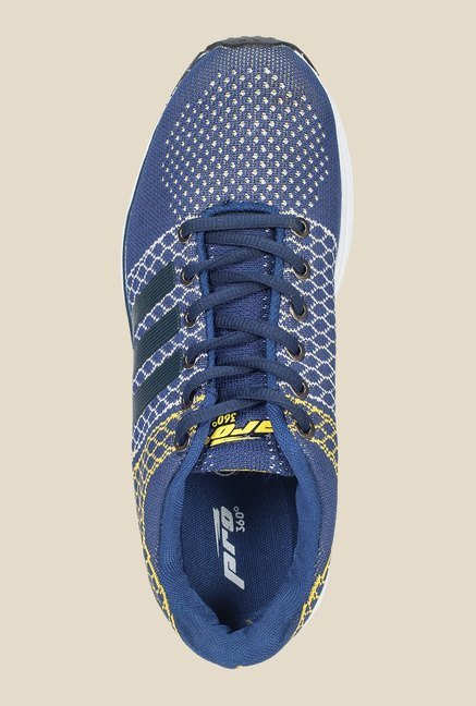 Khadim's Pro Blue & Yellow Running Shoes