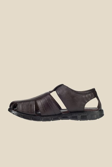 Khadim's Brown Fisherman Sandals