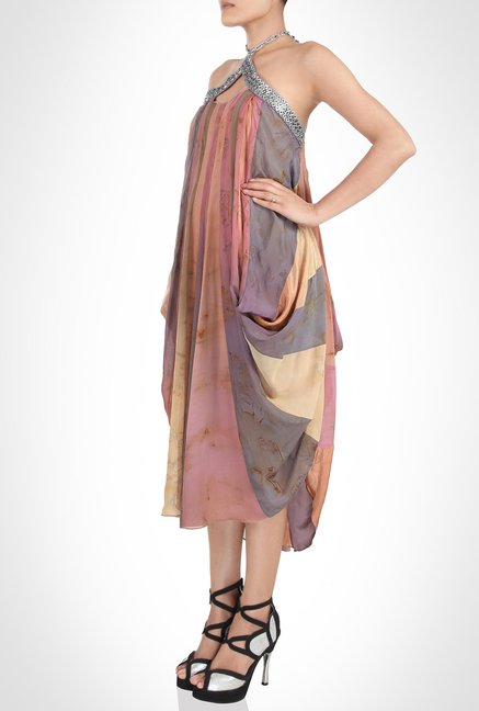 Babita Malkhani Designer Wear Multicolor Dress by Kimaya