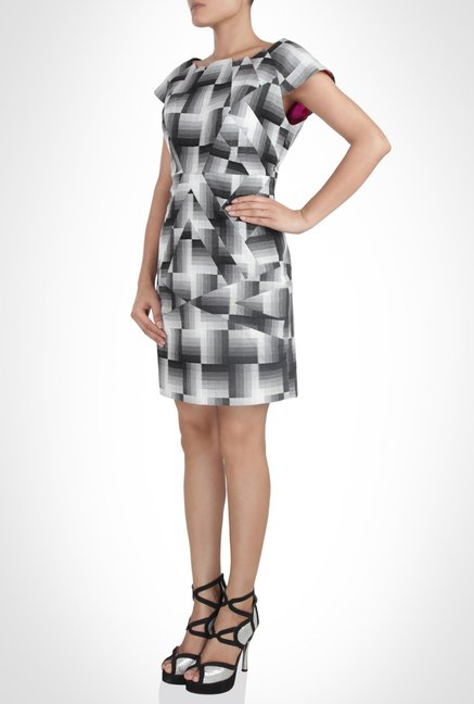 Pankaj & Nidhi Designer Wear Black Print Dress by Kimaya