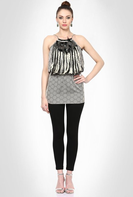 Soigne K Designer Wear Grey Top by Kimaya