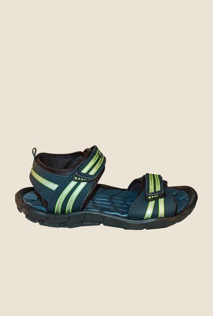 Khadim's Blue & Green Floater Sandals