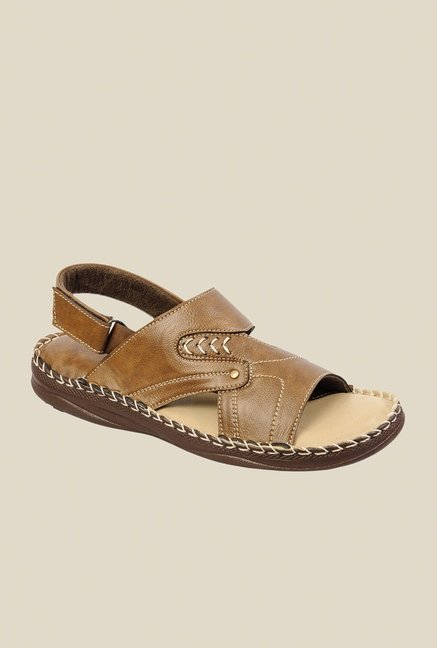 Khadim's Tan Back Strap Sandals