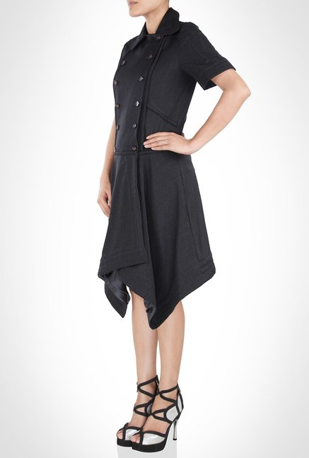 Rishta Arjun Designer Wear Black Overcoat by Kimaya
