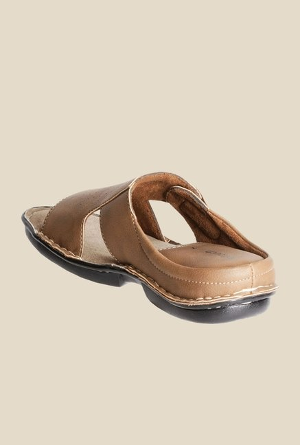 Khadim's Tan Casual Sandals