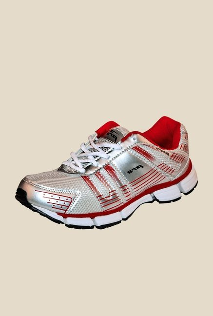 Khadim's Pro Silver & Red Running Shoes