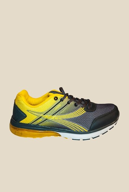 Khadim's Pro Yellow & Grey Running Shoes