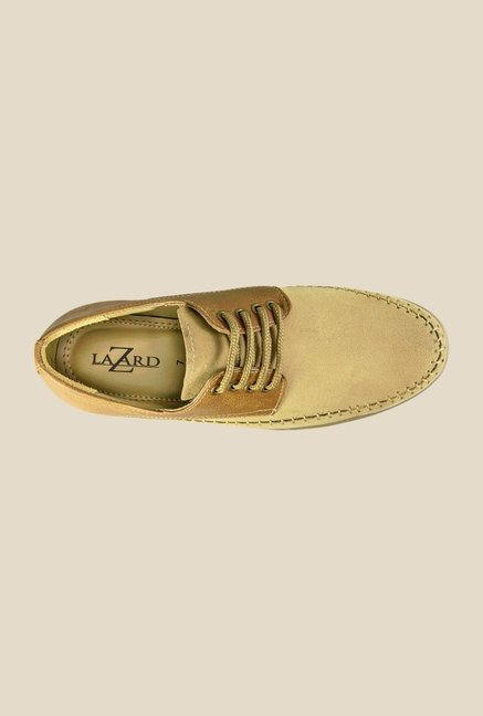 Khadim's Beige & Tan Derby Shoes