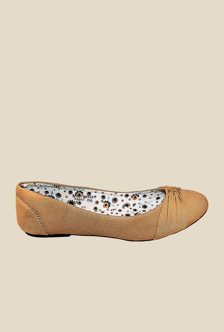 Khadim's Brown Flat Ballets