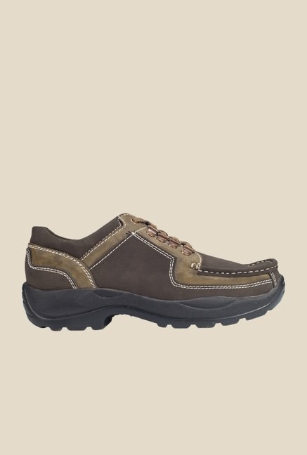 Khadim's Brown & Olive Casual Shoes