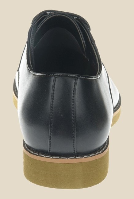 Khadim's Black Derby Shoes