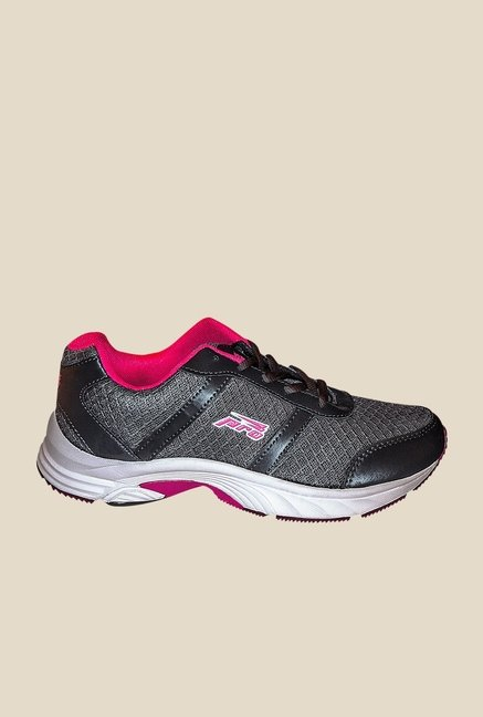 Khadim's Pro Grey & Pink Sports Shoes