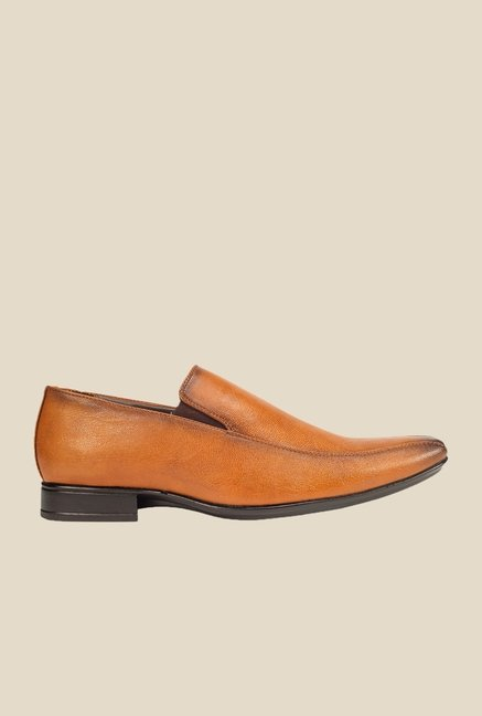 Khadim's Tan Formal Slip-Ons