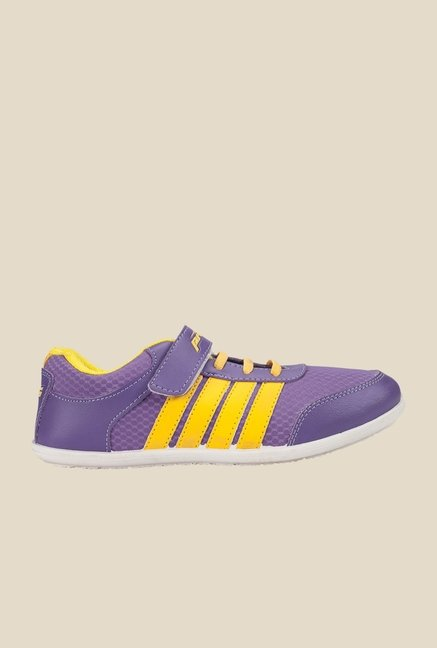 Khadim's Pro Purple & Yellow Sports Shoes