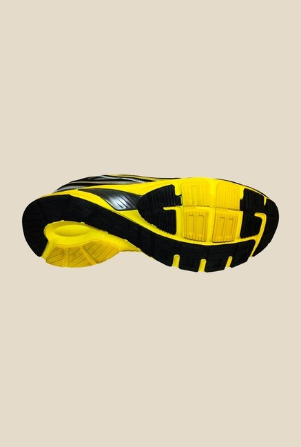 Khadim's Pro Grey & Yellow Running Shoes