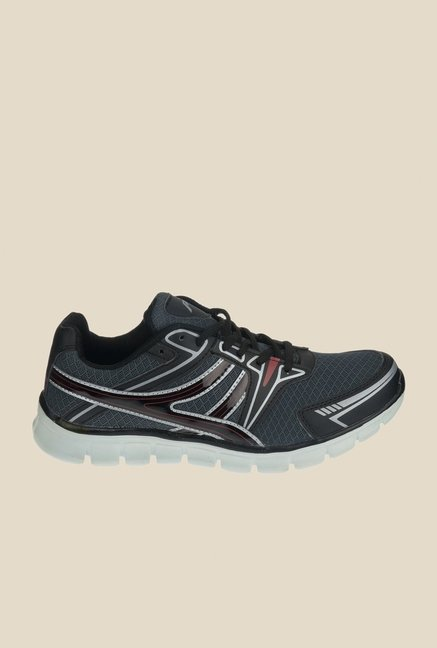 Khadim's Pro Grey & Black Running Shoes