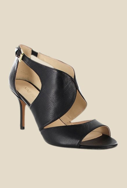 Nine West Black Stiletto Heeled Sandals