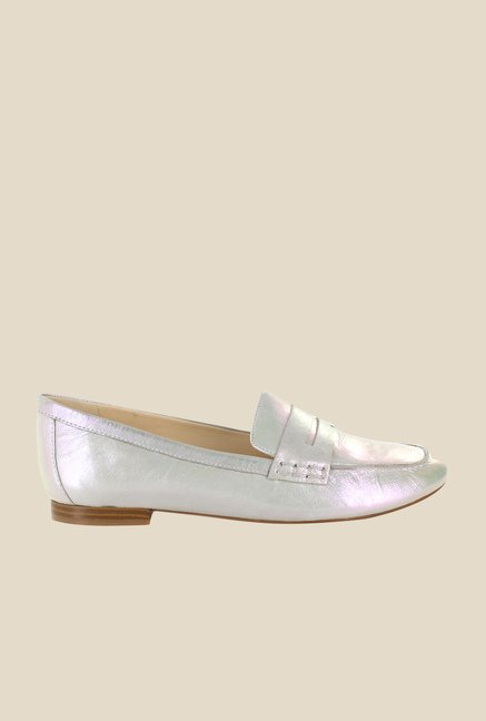 Nine West Silver Casual Loafers