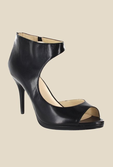 Nine West Black D'orsay Sandals