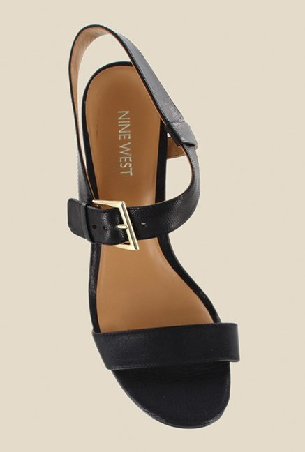 Nine West Black Ankle Strap Stilettos