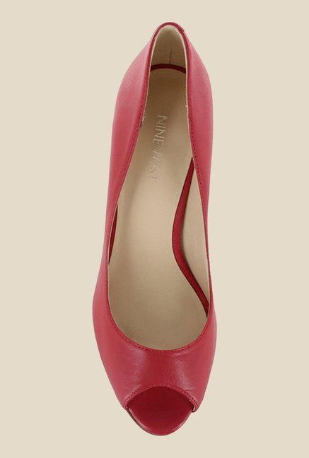 Nine West Piob Pink Peeptoe Shoes