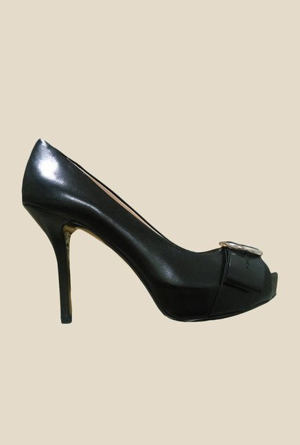 Nine West Black Peeptoe Shoes